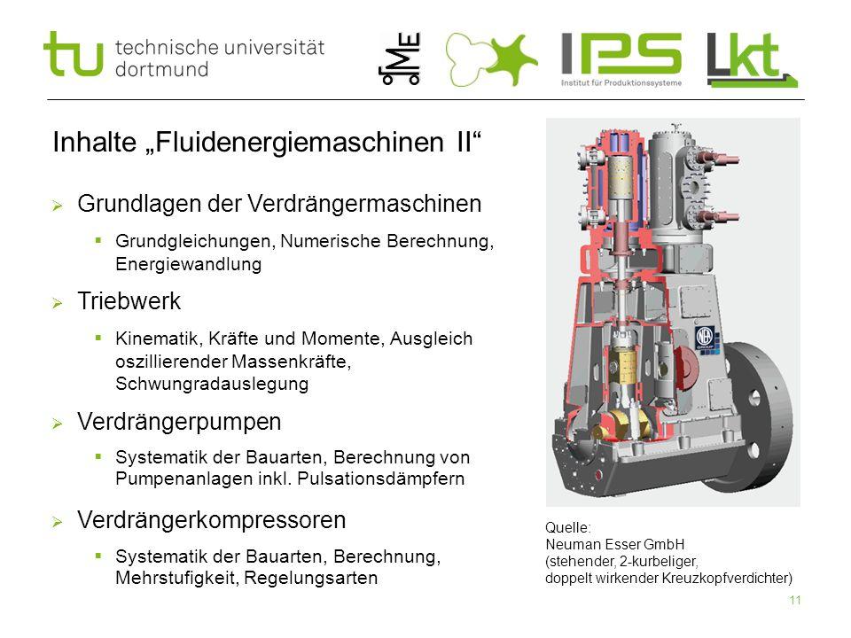 """Inhalte """"Fluidenergiemaschinen II"""