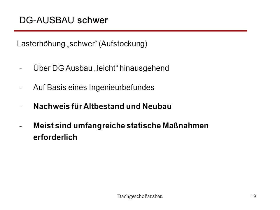 """DG-AUSBAU schwer Lasterhöhung """"schwer (Aufstockung)"""
