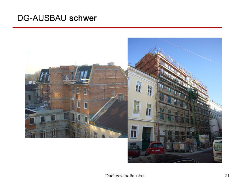 DG-AUSBAU schwer Dachgeschoßausbau