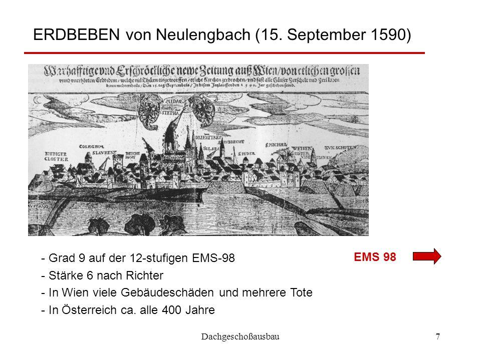 ERDBEBEN von Neulengbach (15. September 1590)