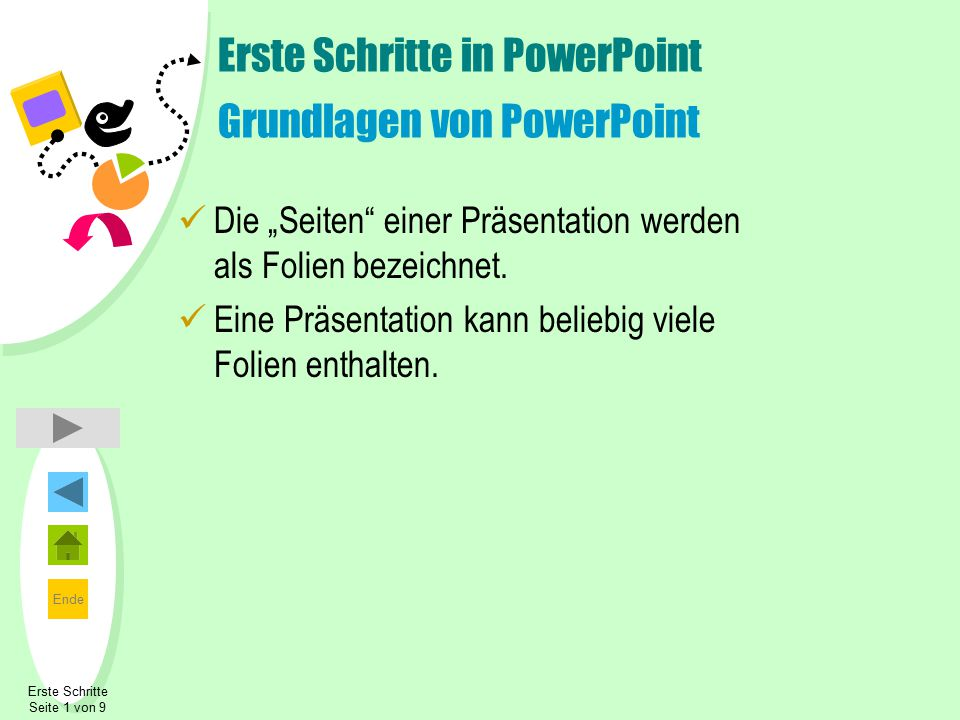 Erste Schritte in PowerPoint Grundlagen von PowerPoint