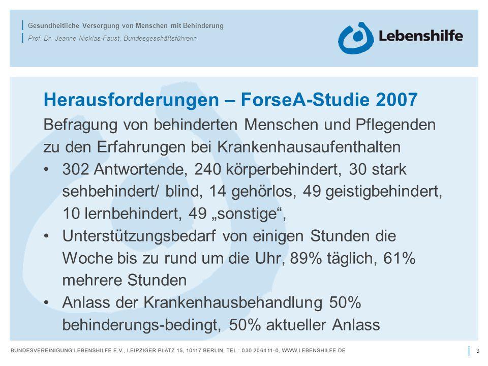 Herausforderungen – ForseA-Studie 2007