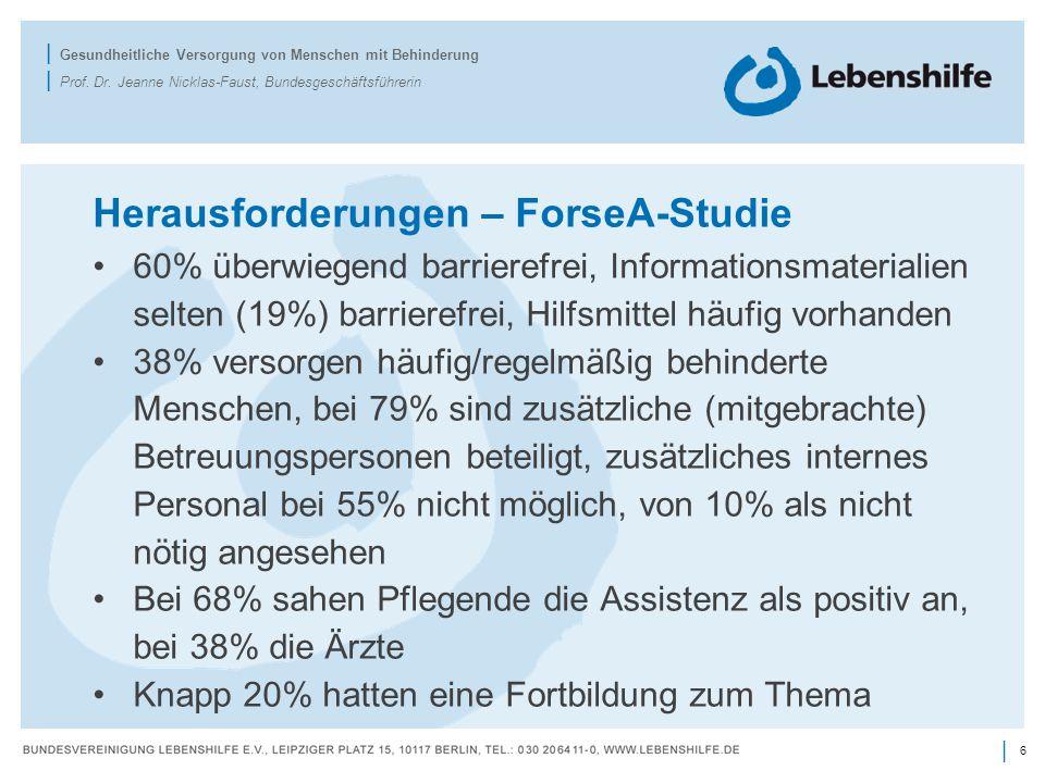 Herausforderungen – ForseA-Studie