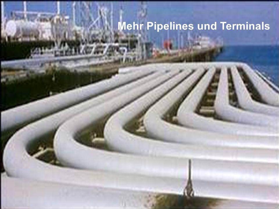 Mehr Pipelines und Terminals