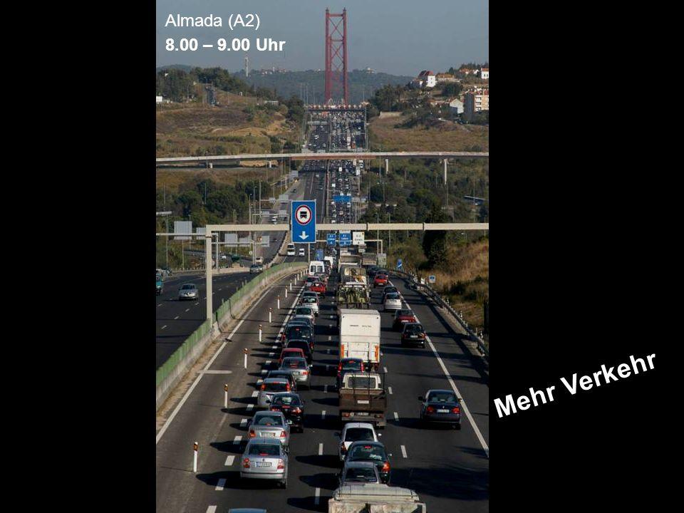 Almada (A2) 8.00 – 9.00 Uhr Mehr Verkehr