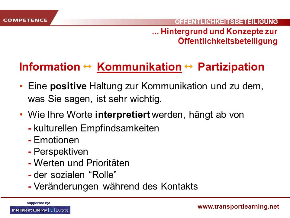Information  Kommunikation  Partizipation