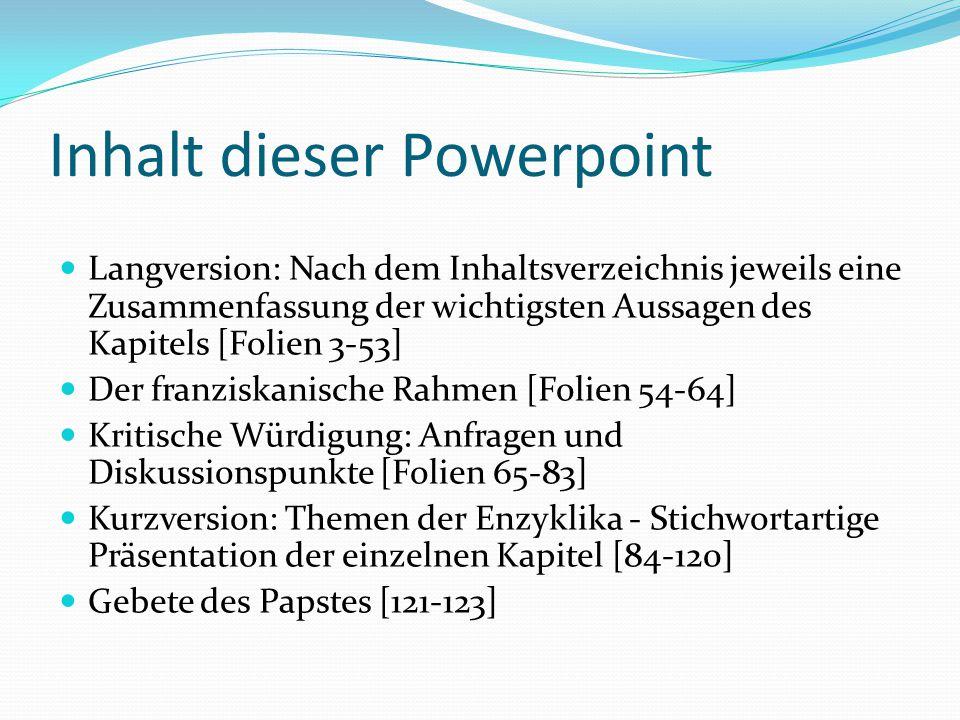 Inhalt dieser Powerpoint