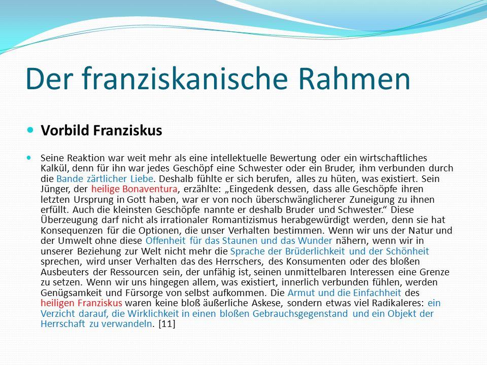 Der franziskanische Rahmen