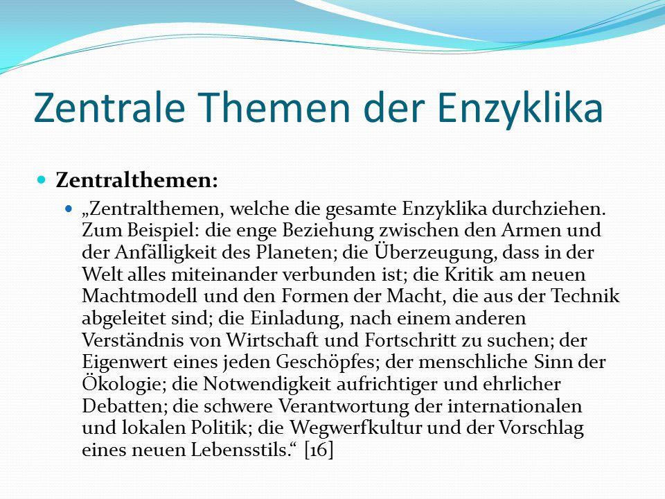 Zentrale Themen der Enzyklika