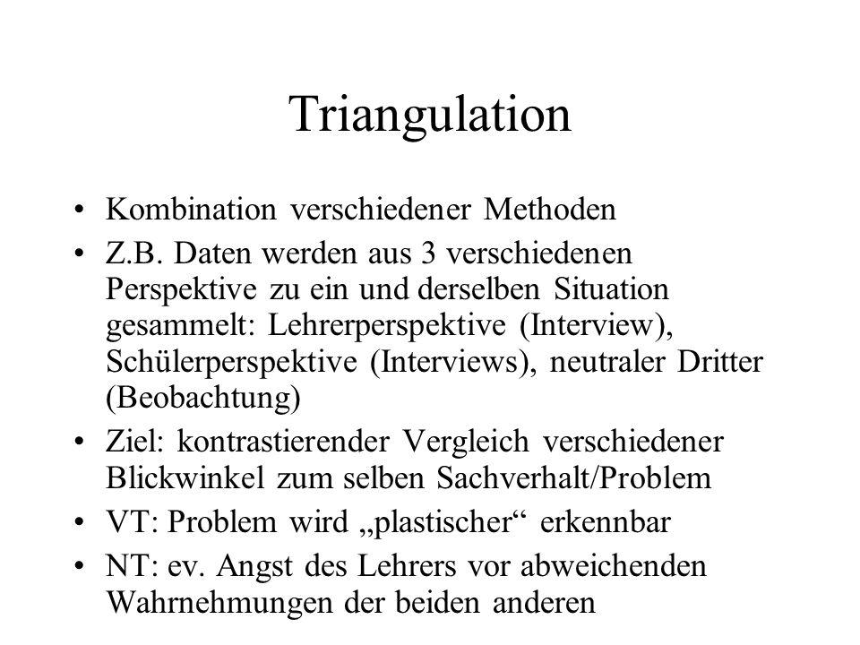 Triangulation Kombination verschiedener Methoden