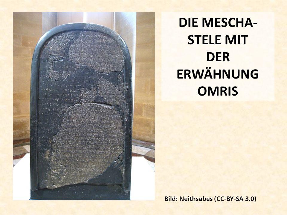 DIE MESCHA-STELE MIT DER ERWÄHNUNG OMRIS