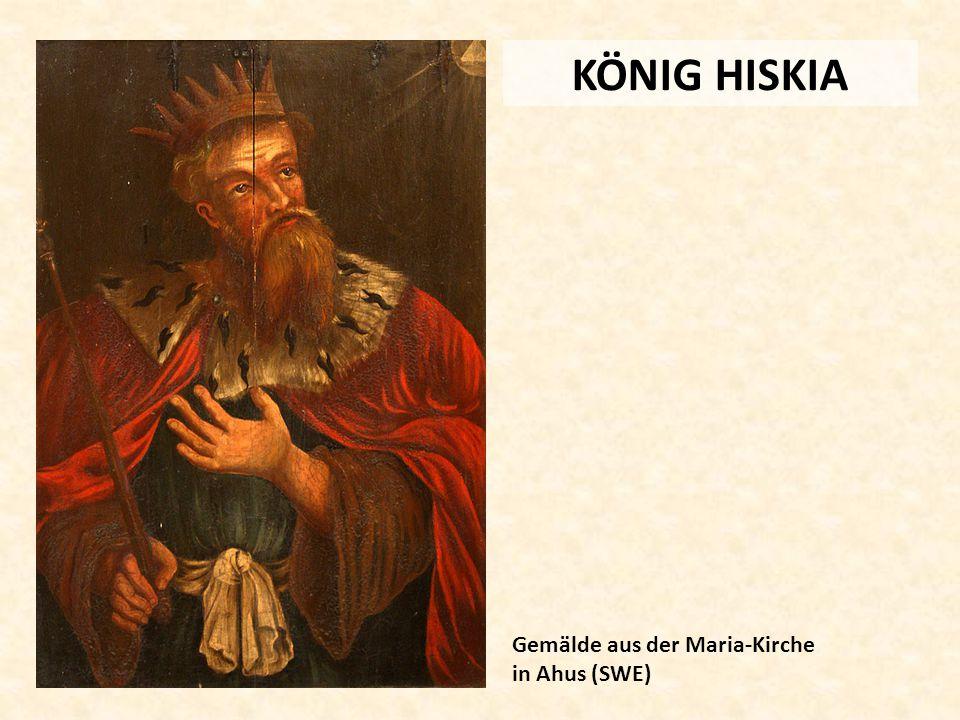 KÖNIG HISKIA Gemälde aus der Maria-Kirche in Ahus (SWE)