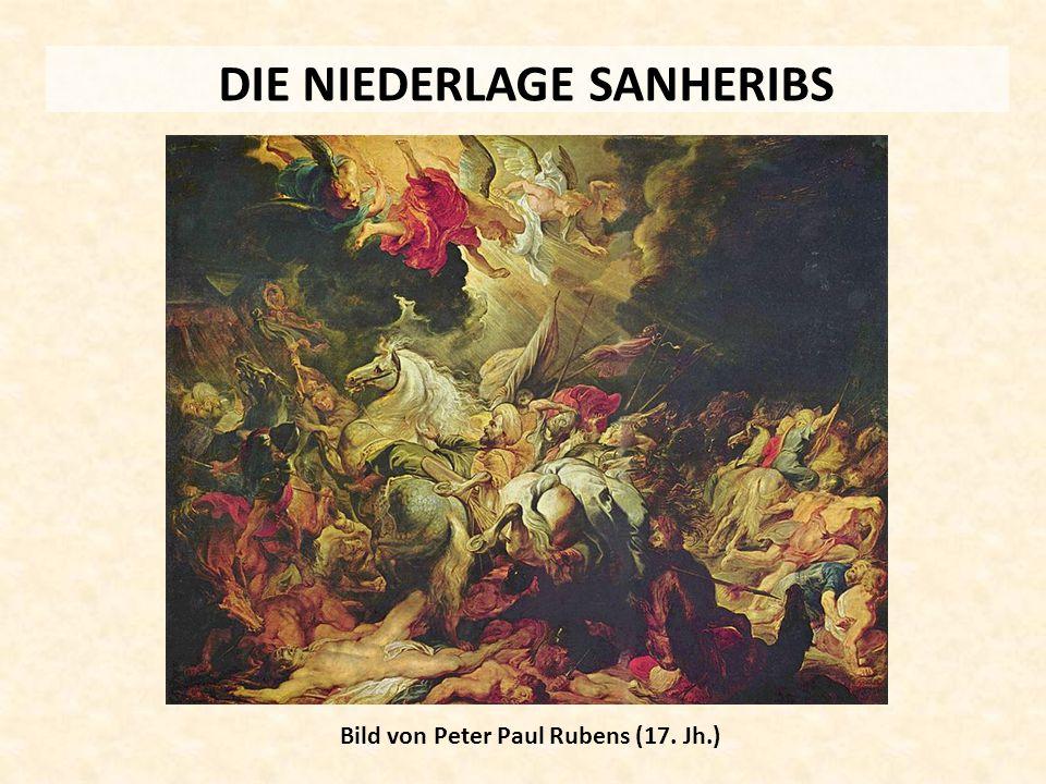 DIE NIEDERLAGE SANHERIBS Bild von Peter Paul Rubens (17. Jh.)