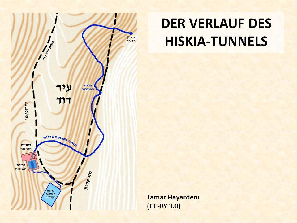 DER VERLAUF DES HISKIA-TUNNELS