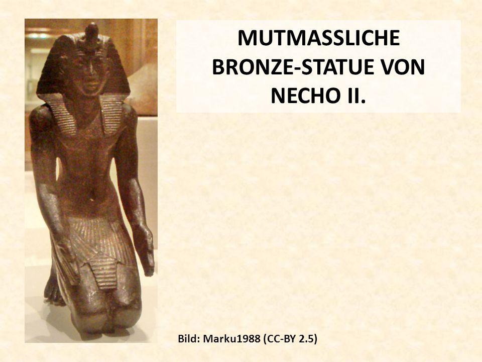MUTMASSLICHE BRONZE-STATUE VON NECHO II.