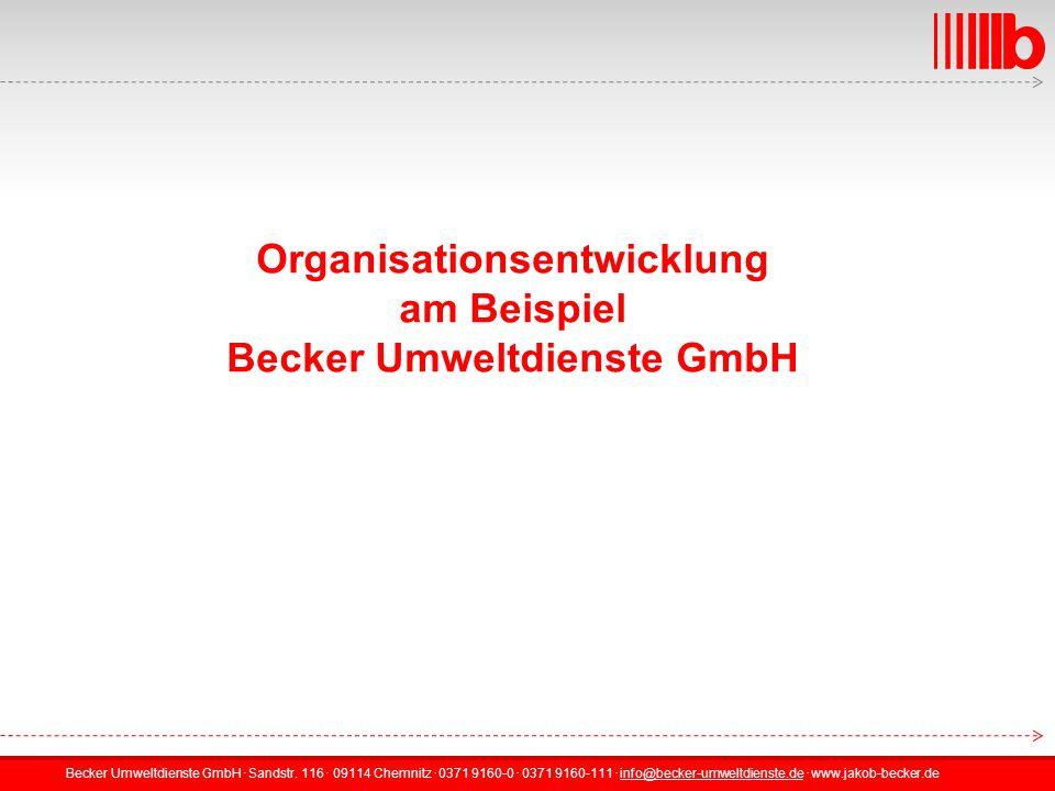 Organisationsentwicklung Becker Umweltdienste GmbH
