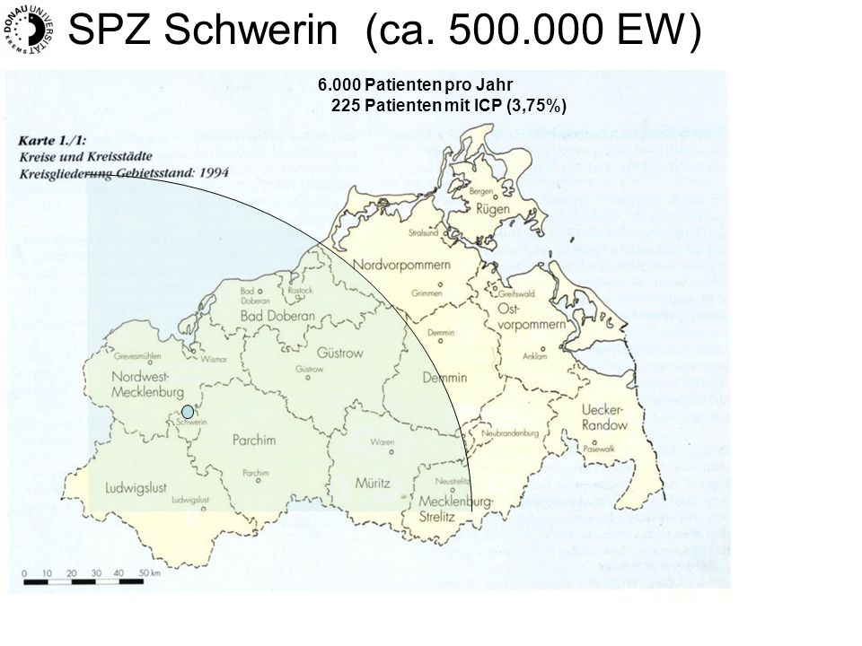 SPZ Schwerin (ca. 500.000 EW) 6.000 Patienten pro Jahr