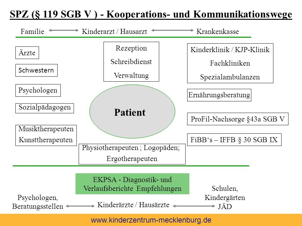 SPZ (§ 119 SGB V ) - Kooperations- und Kommunikationswege