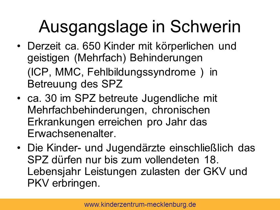 Ausgangslage in Schwerin