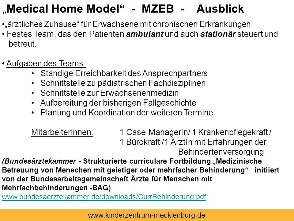 """Medical Home Model - MZEB - Ausblick"