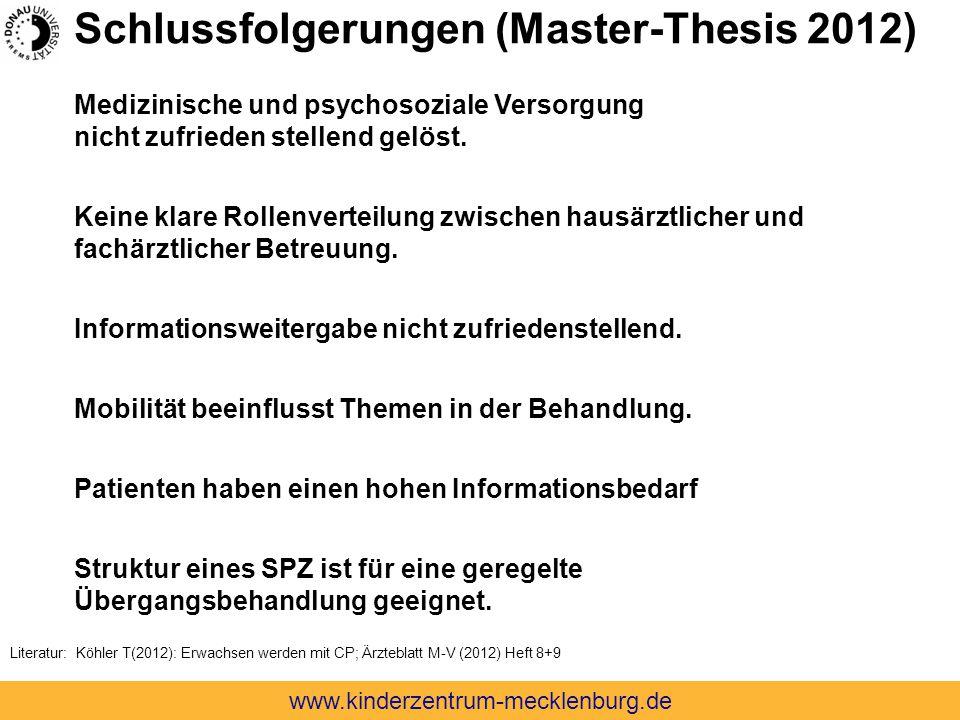 Schlussfolgerungen (Master-Thesis 2012)