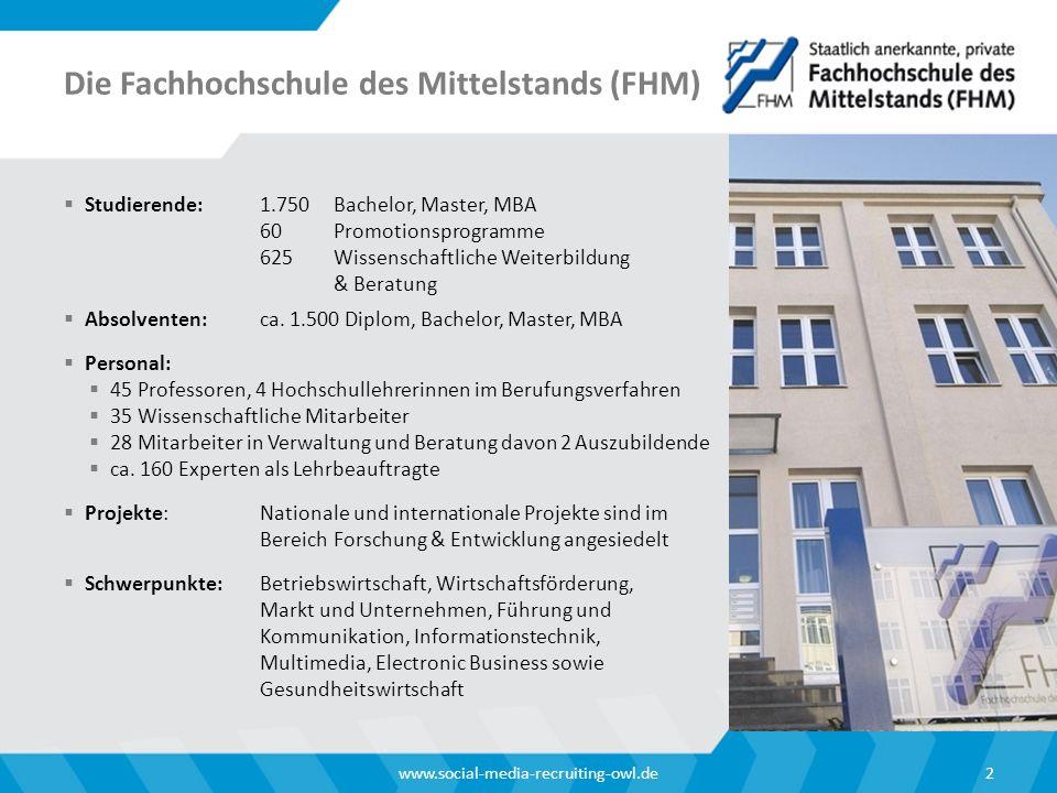 Die Fachhochschule des Mittelstands (FHM)