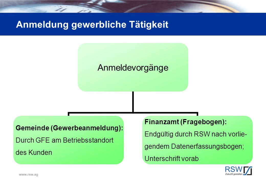 Anmeldung Finanzamt Ziel: Vorsteuererstattung