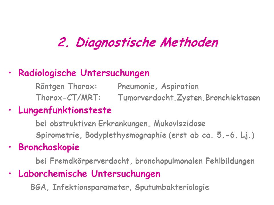 2. Diagnostische Methoden