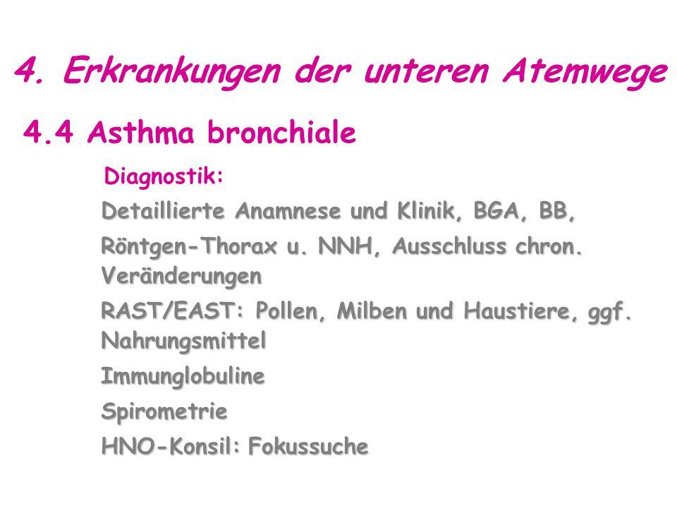 4. Erkrankungen der unteren Atemwege