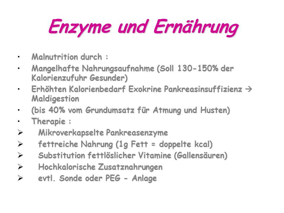 Enzyme und Ernährung Malnutrition durch :