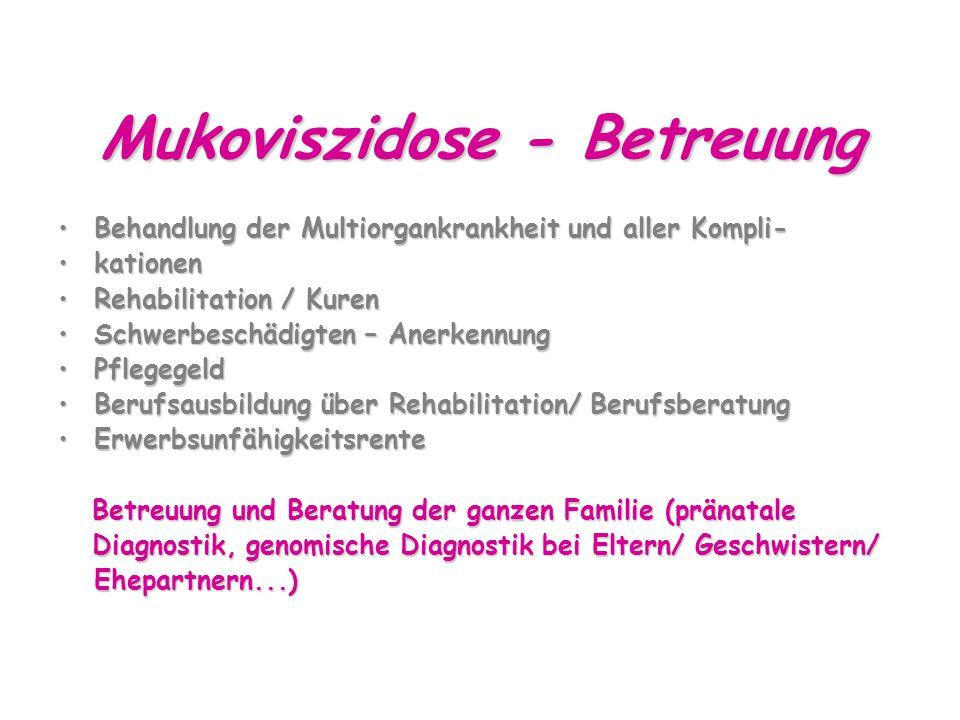 Mukoviszidose - Betreuung