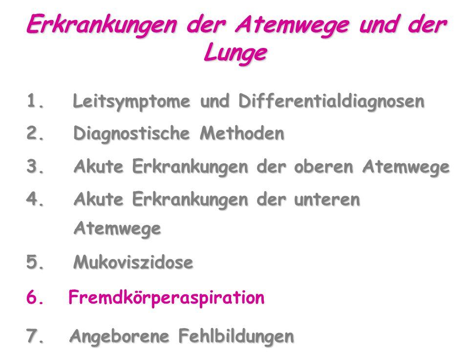 Erkrankungen der Atemwege und der Lunge