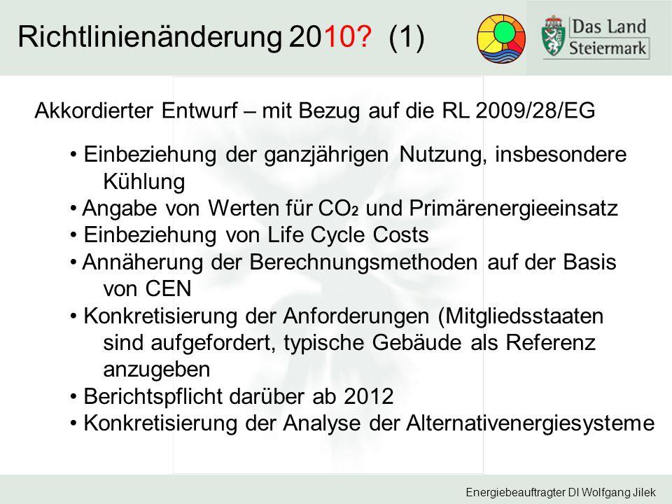 Richtlinienänderung 2010 (1)