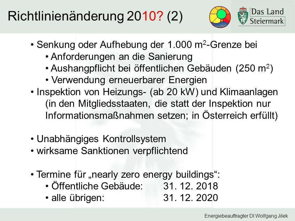 Richtlinienänderung 2010 (2)