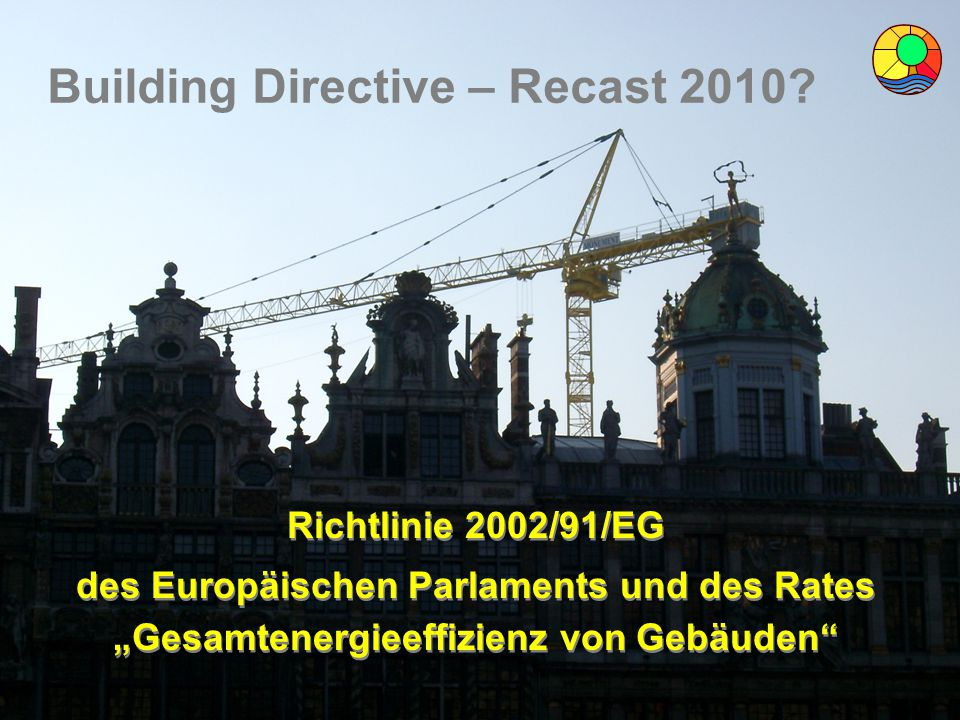 Building Directive – Recast 2010
