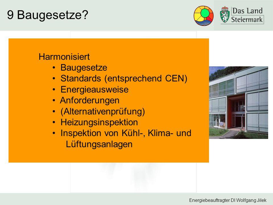 9 Baugesetze Harmonisiert Baugesetze Standards (entsprechend CEN)