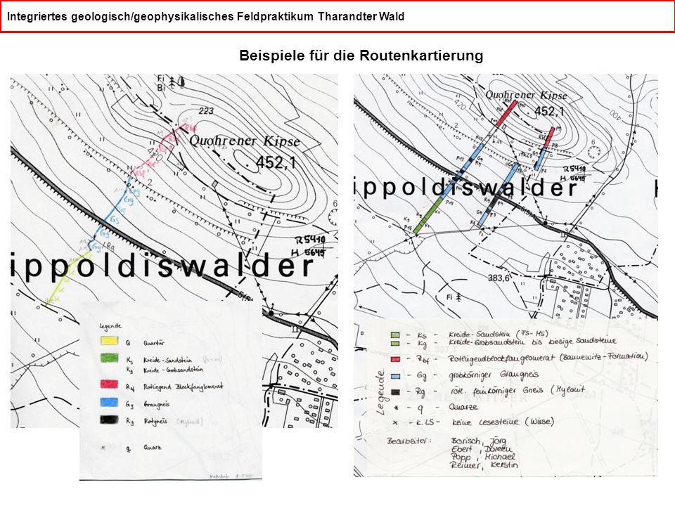 Beispiele für die Routenkartierung
