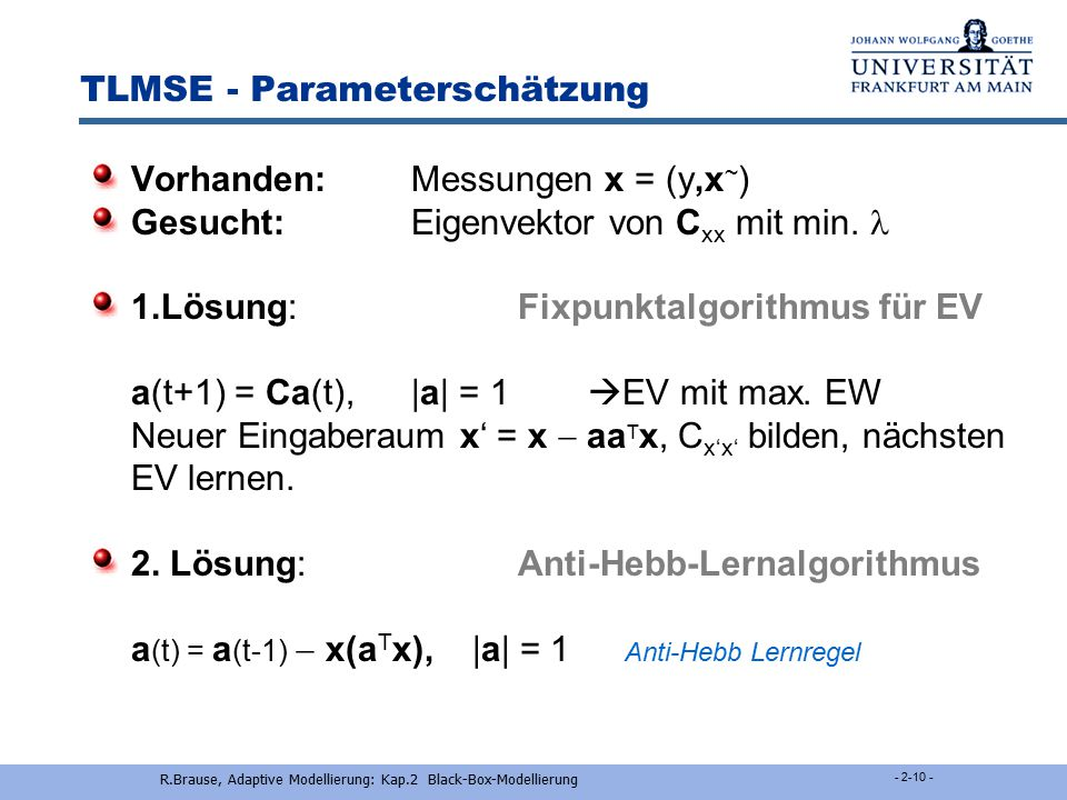 TLMSE - Parameterschätzung