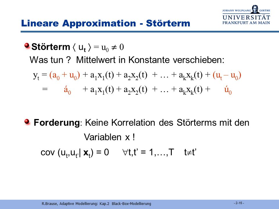Lineare Approximation - Störterm