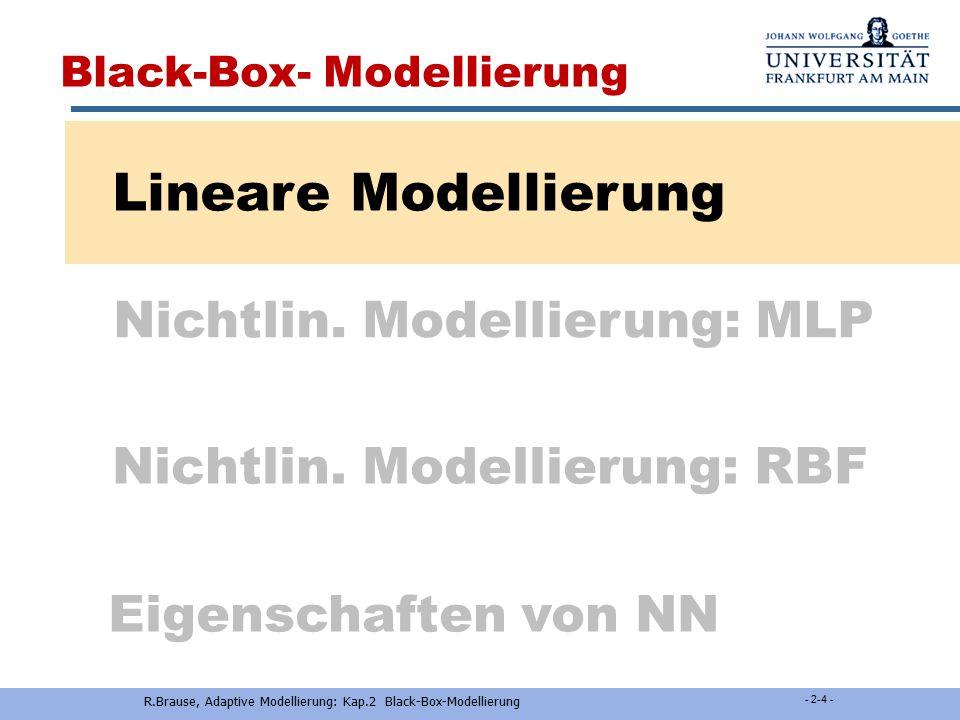 Nichtlin. Modellierung: RBF