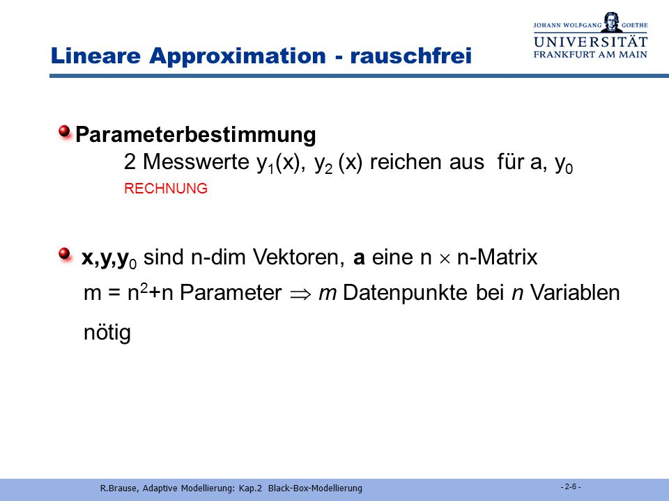 Lineare Approximation - rauschfrei