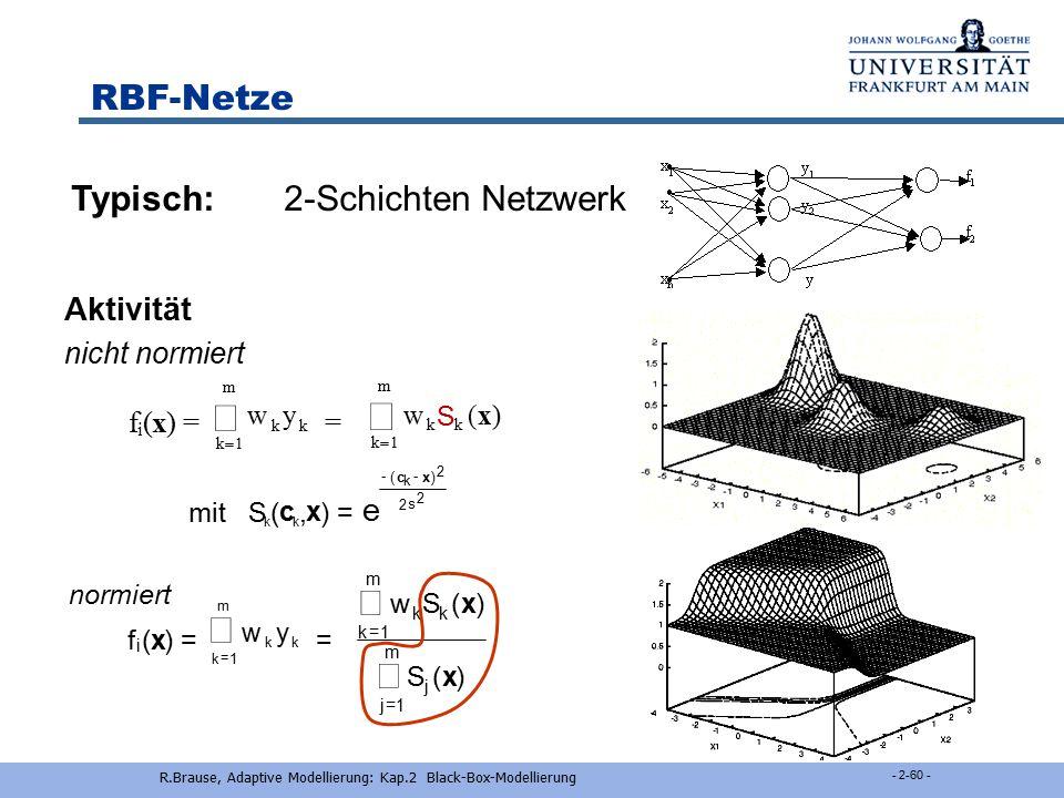 R.Brause, Adaptive Modellierung: Kap.2 Black-Box-Modellierung
