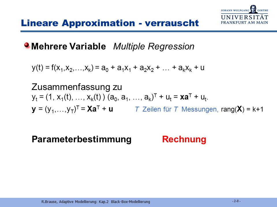 Lineare Approximation - verrauscht