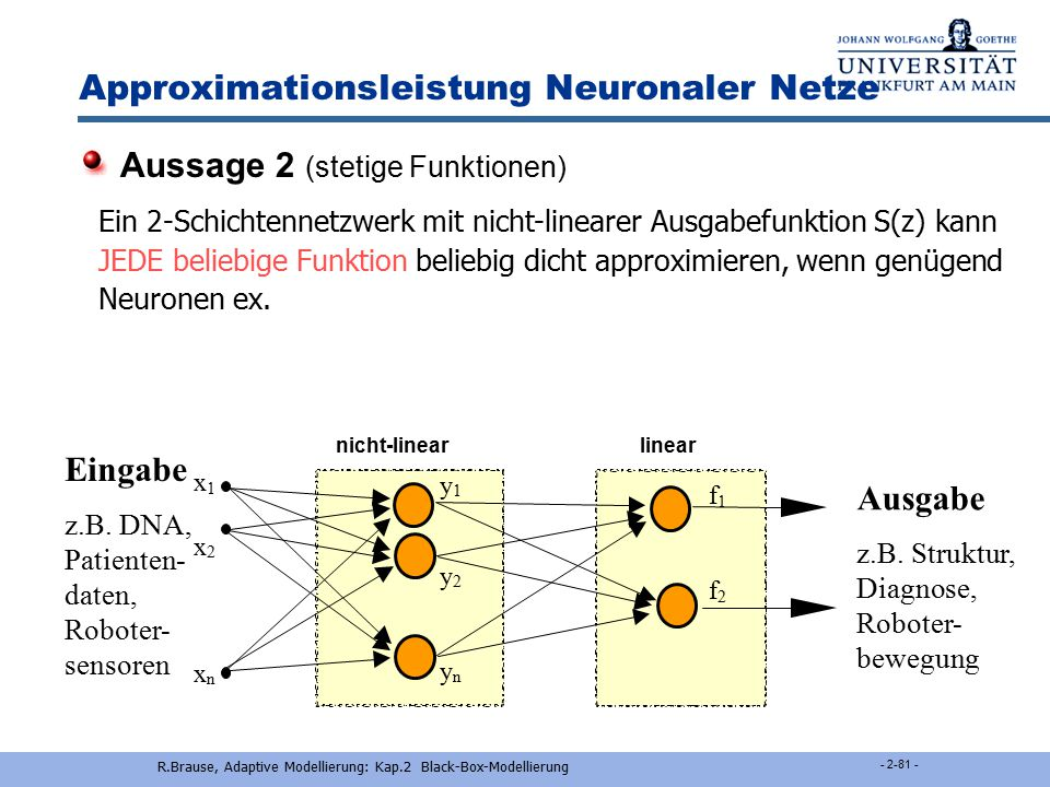 Approximationsleistung Neuronaler Netze