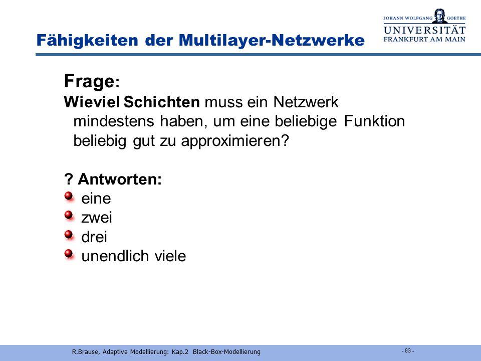 Fähigkeiten der Multilayer-Netzwerke