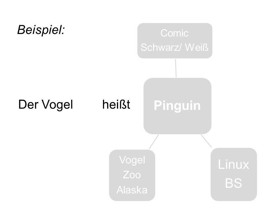 Pinguin Linux BS Beispiel: Der Vogel heißt Comic Schwarz/ Weiß Vogel