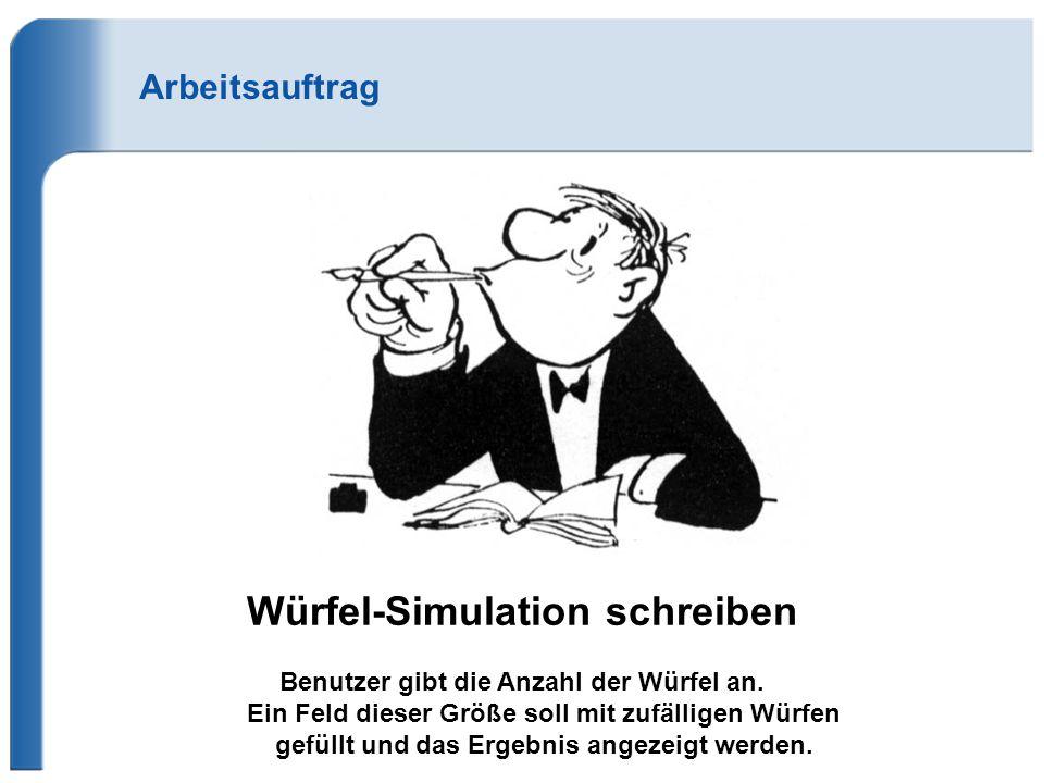 Würfel-Simulation schreiben