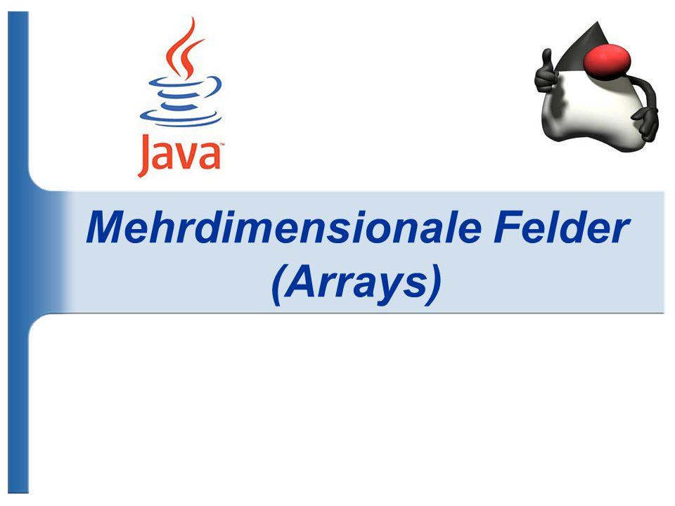 Mehrdimensionale Felder (Arrays)