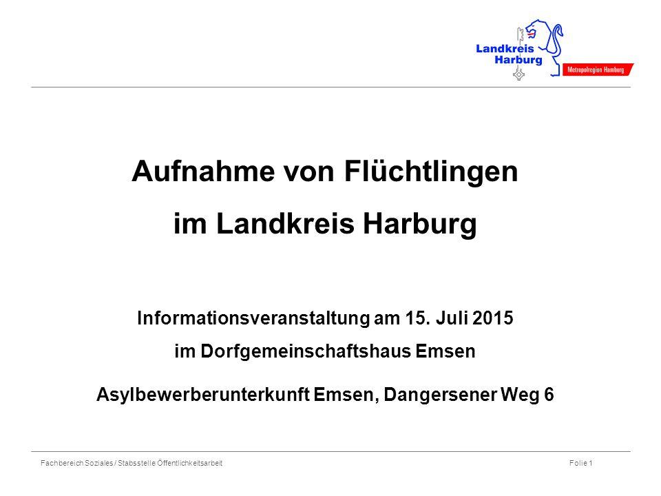 Aufnahme von Flüchtlingen im Landkreis Harburg Informationsveranstaltung am 15.