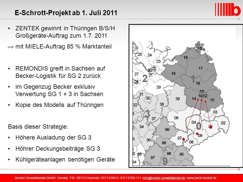 E-Schrott-Projekt ab 1. Juli 2011